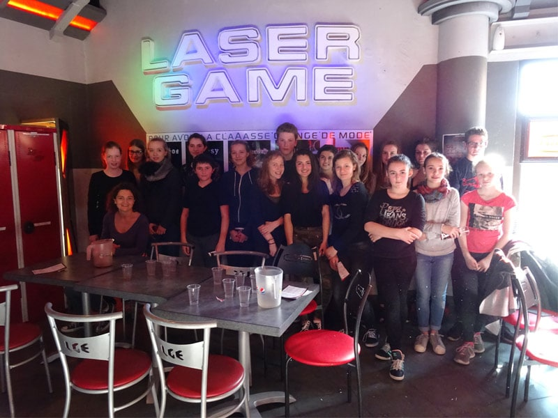 high school student doing lASER TAG