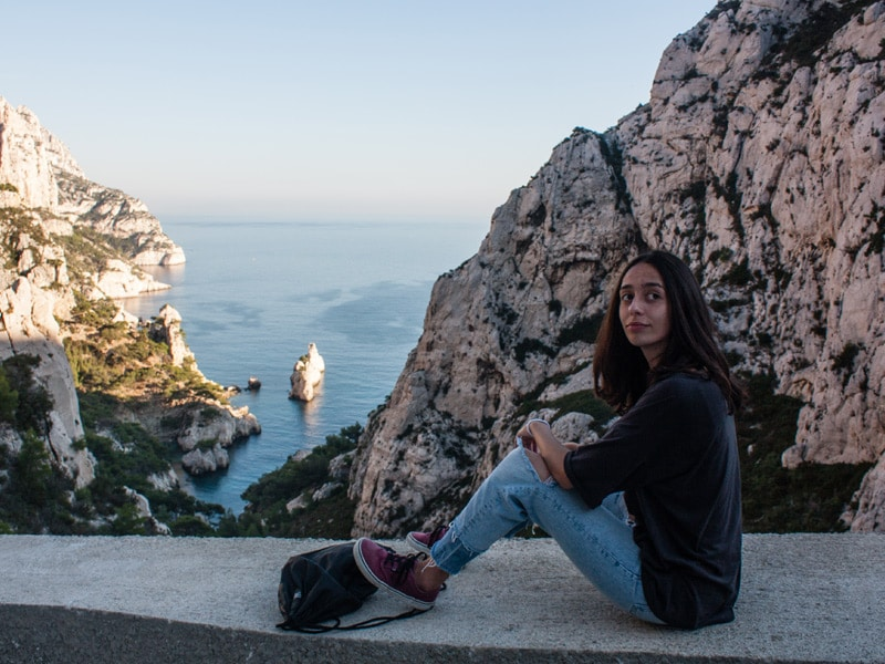 student in calanques