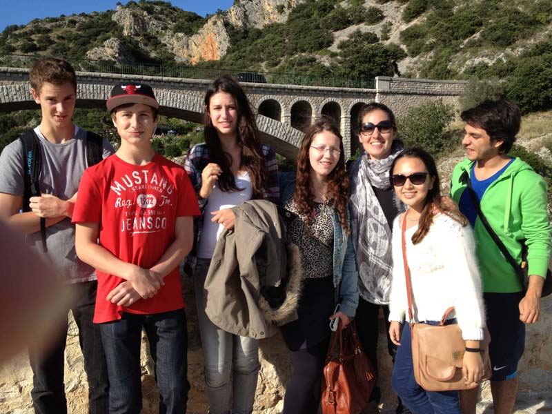 International student group in Occitanie